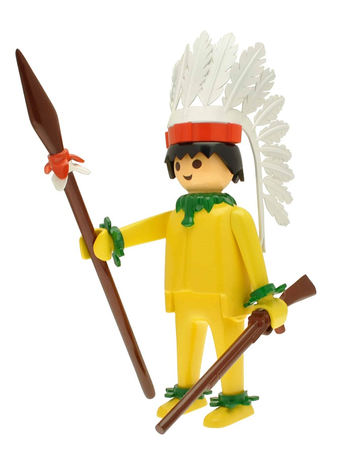 PLAYMOBIL JEFE INDIO AMARILLO ESTATUA 25 CM