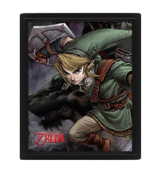 THE LEGEND OF ZELDA POSTER 3D TWILIGHT PRINCESS LINK