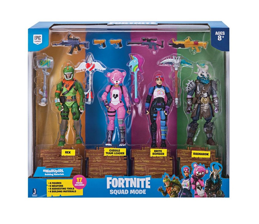 FORTNITE SQUAD MODE PACK 4 FIGURAS