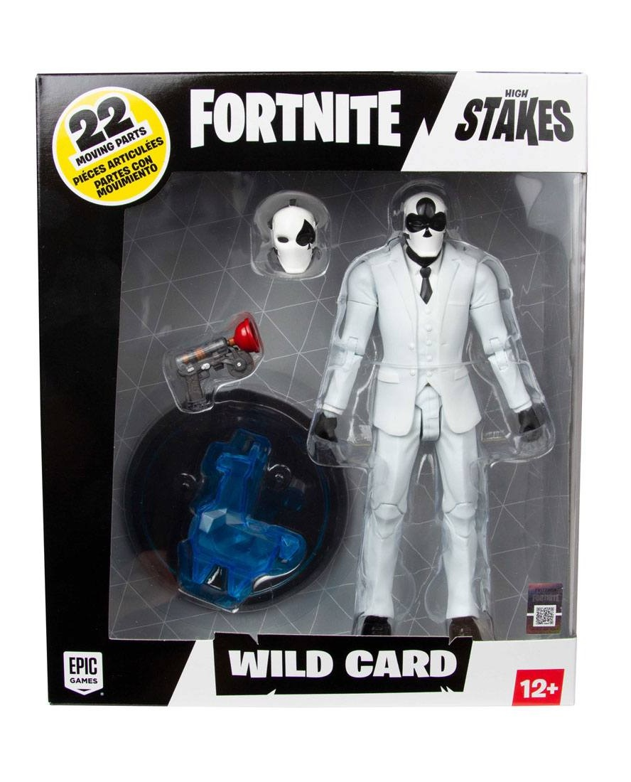FORTNITE ACTION-FIGURE WILD CARD (NEGRO)