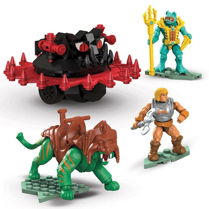 MASTERS OF THE UNIVERSE MEGA CONSTRUX BATTLE CAT VS. ROTON