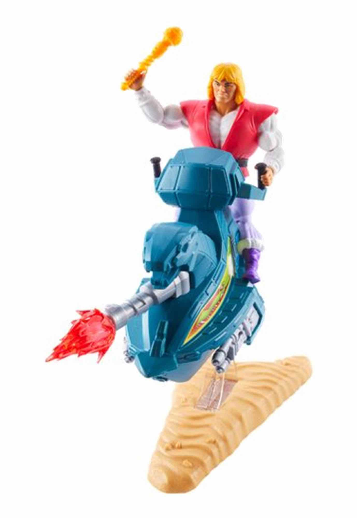 MASTERS OF THE UNIVERSE ORIGINS PRINCE ADAM + SKY SLED