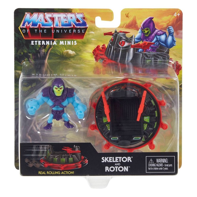 MASTERS OF THE UNIVERSE ETERNIA MINIS SKELETOR AND ROTON