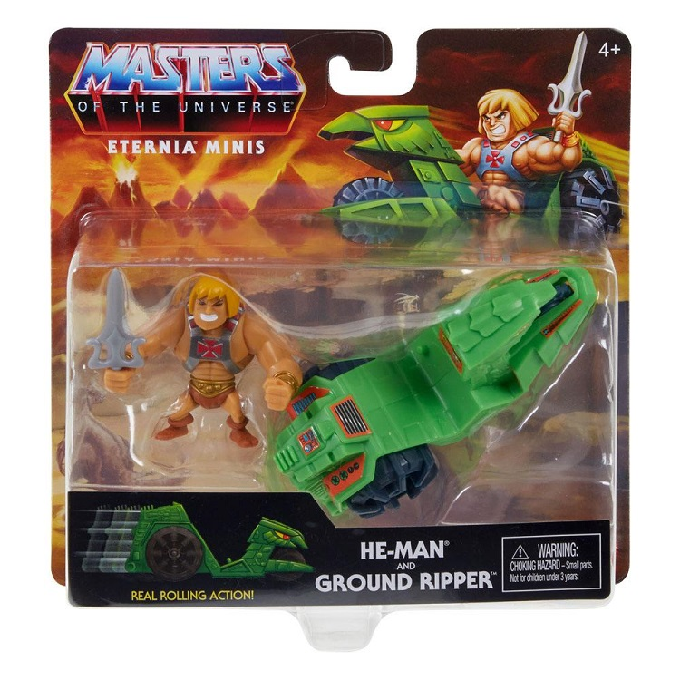 MASTERS OF THE UNIVERSE ETERNIA MINIS HE-MAN AND GROUND RIPPER