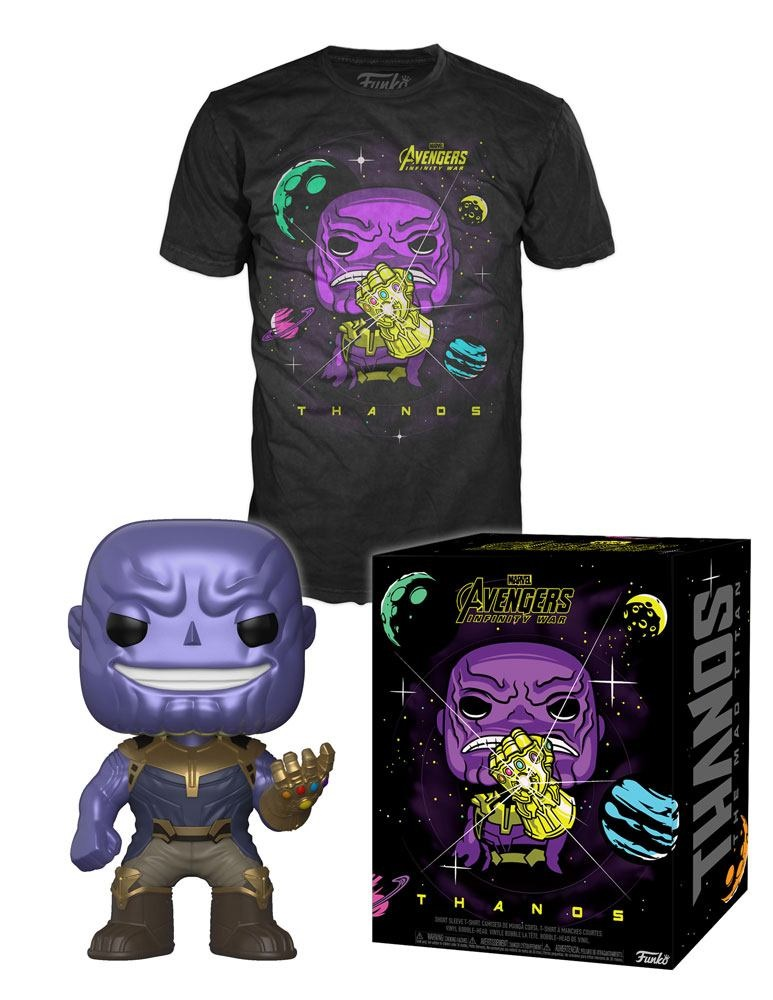 MARVEL POP! PACK FIGURA THANOS + CAMISETA (M)
