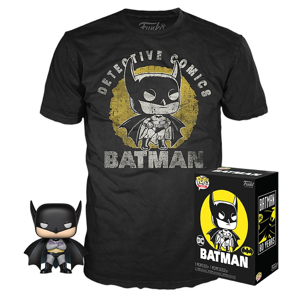 DC POP! PACK FIGURA BATMAN + CAMISETA (M)